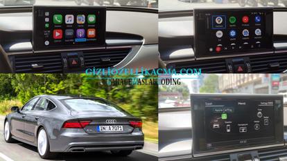 audi a7 apple carplay ve android auto - audi smartphone interface